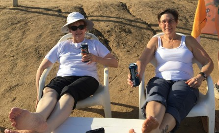 The best way to enjoy the beach at the Dead Sea