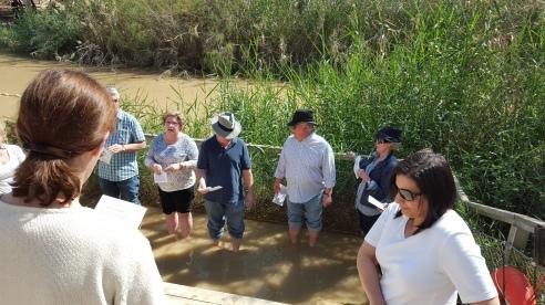 Renewing baptismal vows
